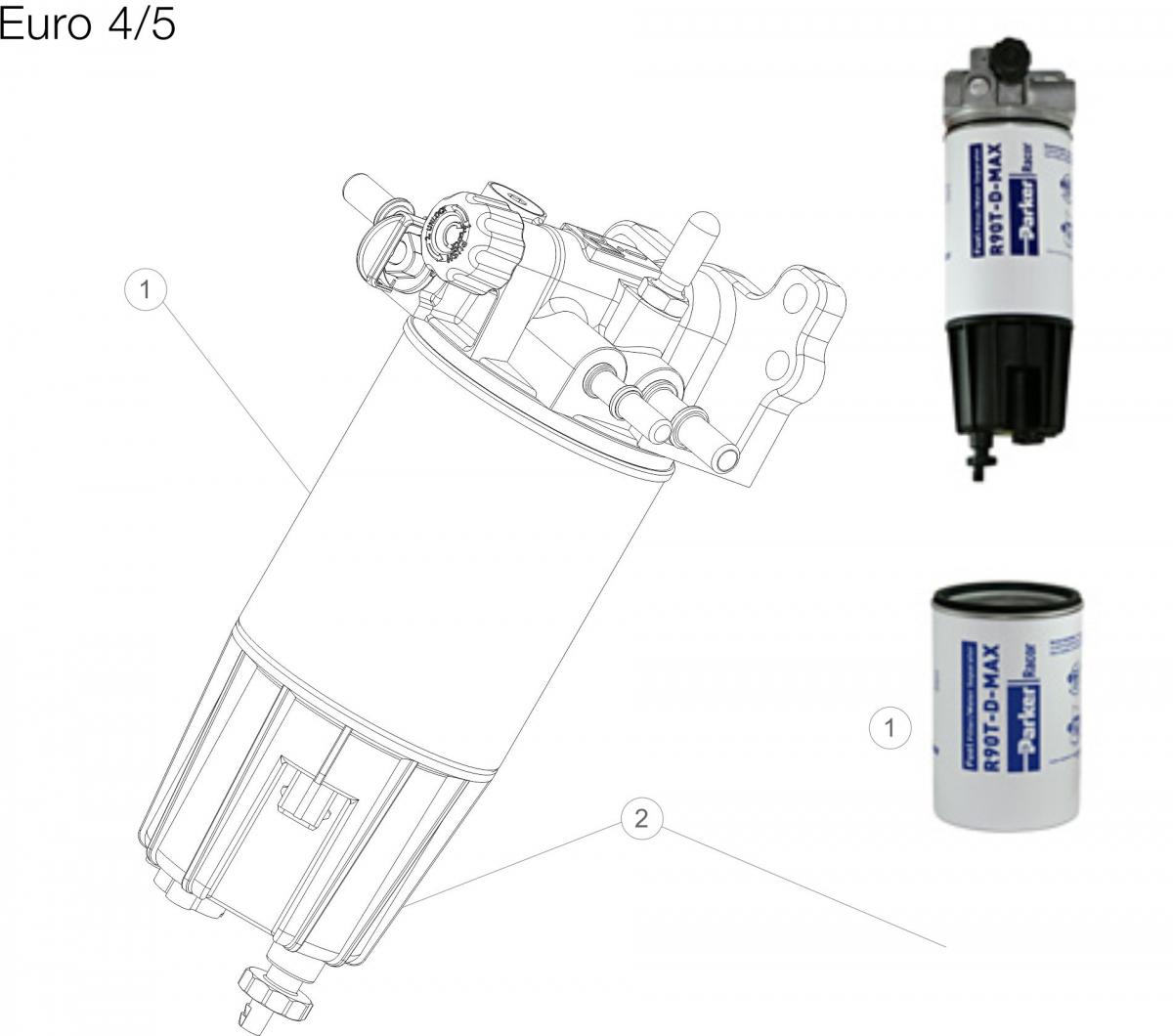 +Parker+Racor+Filtr+paliwa+renault+euro+4+5+