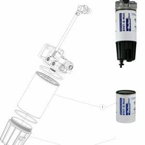 Parker Racor Filtr paliwa serii MD5790PRV10RCR - IVECO EURO 5