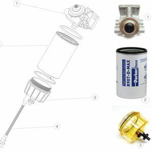 Parker Racor Filtr paliwa 490RP10-D-01 - IVECO