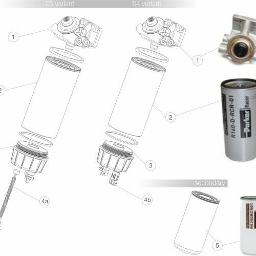 Filtr paliwa 4160DRCR