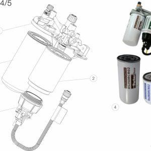 Parker Racor Filtr paliwa serii DRK - VOLVO EURO 4/5