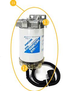 Parker Racor Filtr paliwa scania 4 / G / P / R / T EURO 4/5